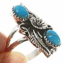 Southwest Silver Leaf Ring 27564
