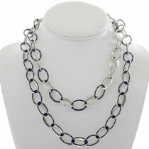 Inlaid Lapis Sterling Silver Link Necklace27906