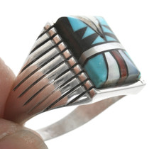 Inlaid Native American Mens Ring 29721