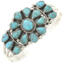 Navajo Traditional Turquoise Cuff Bracelet 28858