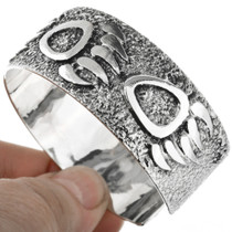 Overlaid Textured Sterling Indian Bracelet 20325