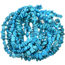 Morenci Blue Turquoise Magnesite Nuggets 14mm x 20mm 16 inch Strand 5033