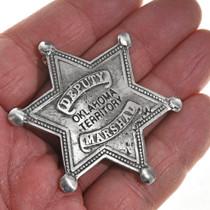 Oklahoma Territory Lawman Silver Badge 28999
