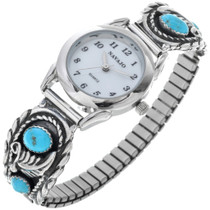 Navajo Ladies Turquoise Watch 24496