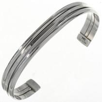 Navajo Plain Silver Banded Cuff 12738