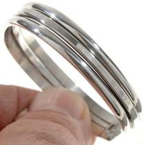 Plain Silver Cuff Bracelet 12738
