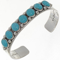Men or Ladies Turquoise Row Cuff Bracelet 25686