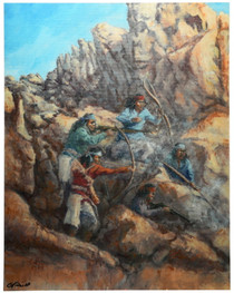 Brave Indians in the Chiricahua Mountains 16610