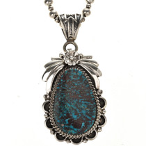 Navajo Turquoise Silver Pendant 29434