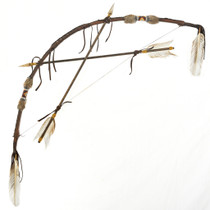 Buckskin Bow Crossed Arrows 29361