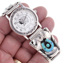 Inlaid Opal Silver Watch 24445