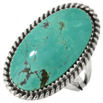 Green Turquoise Pointer Ladies Ring 28953