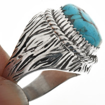 Turquoise Organic Grooved Design Ring 29681