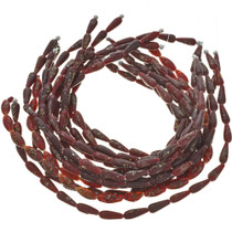 9mm x 25mm Painted Glass Beads 16 inch Strand