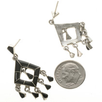 Zuni Style Inlaid Earrings 12495
