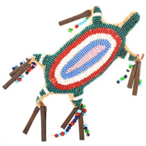 Vintage Beaded Buckskin Indian Amulet 30403