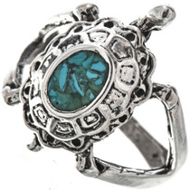 Navajo Turquoise Turtle Ring 29283