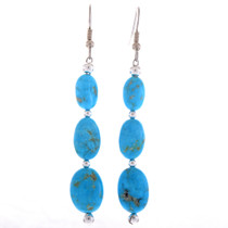 Turquoise Nugget Silver Earrings 28229