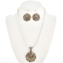 Gold Silver Native American Pendant 21980