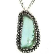 Turquoise Sterling Southwest Pendant 28697