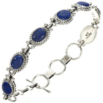 Navajo Blue Lapis Tennis Link Bracelet 29094