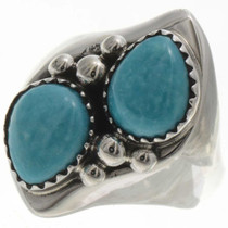 Turquoise Teardrops Ladies Ring 25718