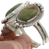 Three Stone Green Turquoise Cuff Bracelet 16227