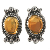 Navajo Citrine Sterling Post Earrings 28864