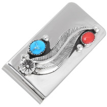 Turquoise Silver Money Clip 24273