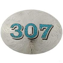 Custom Turquoise Belt Buckle 27544
