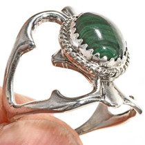 Native American Ladies Malachite Ring 29016
