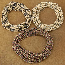 Wholesale lot of 36 Brass Wood Silver Bali Bead Hemp Necklace Variety Pack