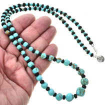 Navajo Turquoise Beaded Necklace 29266