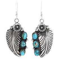 Natural Turquoise Silver Earrings 26670