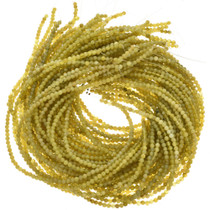 4mm Lemon Serpentine Beads 16 inch Long Strand
