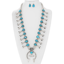 Turquoise Squash Blossom Necklace 29372