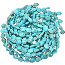 Turquoise Magnesite Beads 16mm x 19mm 16 inch Strand 5131