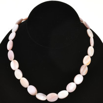 12mmx 16mm Pink Shell Beads 16 inch Long Strand