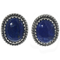 Lapis Silver Stud Earrings Earrings 28443