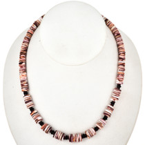 Navajo Spiny Oyster Garnet Necklace 29465