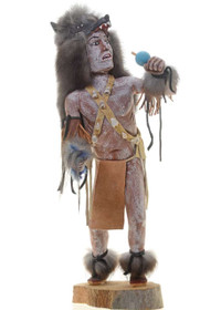 Gray Wolf Kachina Doll 27275