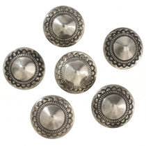 Southwest Silver Concho Button 229709