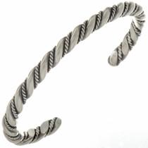 Navajo Handmade Sterling Cuff Bracelet 27775