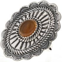 Navajo Gemstone Ladies Concho Ring 28905