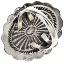 Ladies Sterling Concho Ring 28905