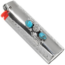Native American Turquoise Silver Lighter Case Cover 27650