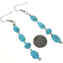 Natural Kingman Turquoise Earrings 29028
