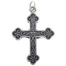 Sterling Silver Heraldic Cross Charm 35434