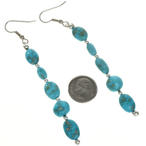 Turquoise Navajo Dangle Earrings 29032