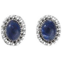 Navajo Lapis Silver Post Earrings 28619